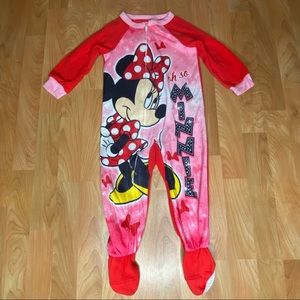 4/$20 - Toddler Girls Minnie Mouse Footed Pajamas